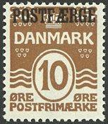 Danmark - AFA 12 postfærge postfrisk