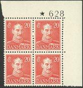 Danmark - AFA 276 postfrisk marginal-fireblok