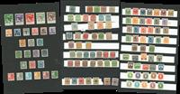 Danmark m.fl. - Planche med klassiske frimærker