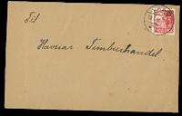 Færøerne - AFA 4 stemplet på brev