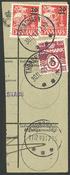 Îles Féroé - AFA 4 avec perf. V.L. obl. sur coupure