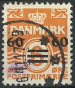 Færøerne - AFA 6B stemplet