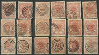 Danemark - Carte avec 18 timbres AFA 13
