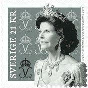 Suède - Reine Silvia - Timbre neuf de rouleau