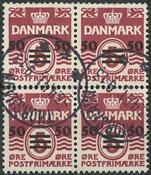 Færøerne - AFA 5A stemplet fireblok
