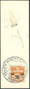 Îles Féroé - AFA 6B obl. sur coupure