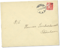 Îles Féroé - AFA 4 obl. sur lettre