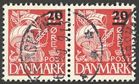 Færøerne - AFA 4 stemplet position 78 - parstykke
