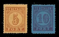 Pays-Bas 1870 - NVPH P1 AB, P2 A - Neuf avec charniere