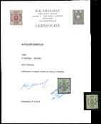 Suomi 1885 - LAPE n:o 25 - 5 mk leimattuna - Kaj Hellmannin lausunnolla