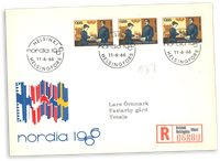 Finland - 1966 - Nordia FDC med tre frimærker - LAPE nr. 612