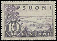 Suomi 1930 - LAPE n:o 156 I - Saimaa - vaaleanvioletti, postituoreena