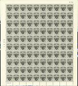 Danmark - Postfrisk helark AFA 262, marginal nr. 430