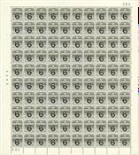Danmark - Postfrisk helark AFA 262, marginal nr. 384