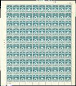 Danmark - Postfrisk helark AFA 198a marginal nr. 408