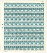 Danmark - Postfrisk helark AFA 198a marginal nr. 382