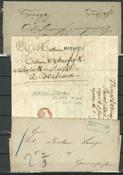 Præfilatelistiske breve - Mere end 50 stk.