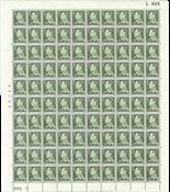 Danmark - Postfrisk helark AFA 395F marginal nr. 005