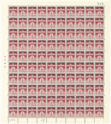 Danmark - Postfrisk helark AFA 28 marginal nr. 543