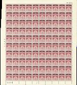 Danemark - Feuille entière complète AFA 28 marge no 635