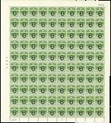 Danmark - Postfrisk helark AFA 261 marginal nr. 402