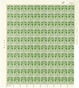 Danmark - Postfrisk helark AFA 256 marginal nr. 522