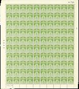 Danmark - Postfrisk helark AFA 256 marginal nr. 755