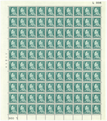 Danmark - Postfrisk helark AFA 397F marginal nr. 006