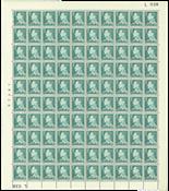 Danmark - Postfrisk helark AFA 397F marginal nr. 038