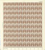 Danmark - Postfrisk helark AFA 255 marginal nr. 676