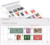 Grande-Bretagne - Les timbres classiques - Présentation Souvenir