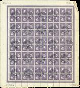 Danemark - Feuille entière obl. AFA 136-139
