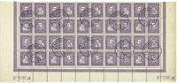 Danmark - AFA 136-139 stemplet blok med 40 frimærker