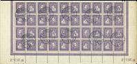 Danemark - AFA 136-139 bloc obl. 40 timbres