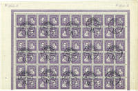 Danmark - AFA 136-139 bloc avec 60 timbres