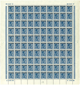 Danmark - Postfærge foldet postfrisk helark AFA 9