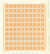Danmark - Porto foldet postfrisk helark AFA 9