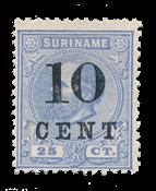 Suriname 1898 - NVPH 32a - Neuf avec charniere