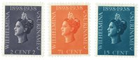 Suriname 1938 - NVPH 187/89 - ubrugt