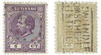 Surinam 1873-1889 - NVPH 5/6 - oblitéré