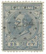 Suriname 1873-1889 - NVPH 10a - stemplet