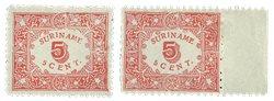 Surinam 1909 - NVPH 58/59 - Neuf avec charnière