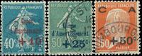 France 1927 - YT 246-48 - Oblitéré