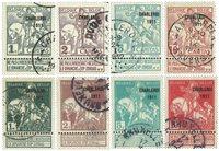 Belgien 1911 - OBP 92-99 - Stemplet