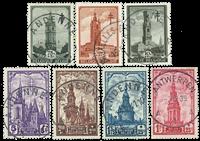 Belgien 1939 - OBP 519-26 - Stemplet