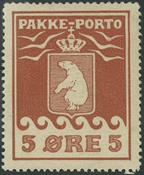 Grønland - Pakkeporto nr. 2 1905