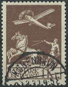 Danemark - 1929 ancienne poste aérienne 1 kr. brun