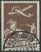 Danmark - 1929 Gl. luftpost 1 kr. brun