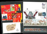 Grande-Bretagne - Carnets de prestige, lettres philatéliques-numism., EPJ