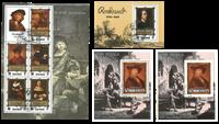 Rembrandt 4 blocs-feuillets